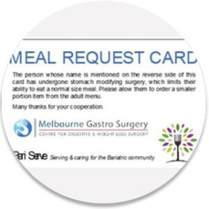 Meal card