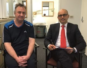 Ross with Dr Arun
