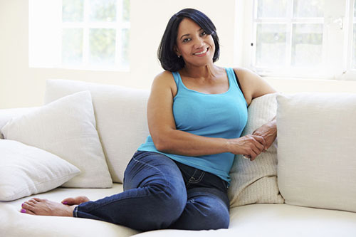 woman on lounge after gastric bypass surgery