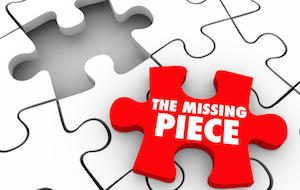 missing piece of jigsaw