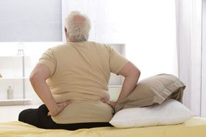 Obese man with back pain is planning weight loss surgery
