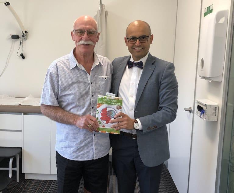 Chris Thomas with Dr Arun