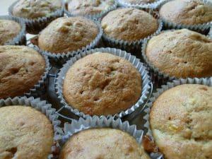 cake muffins full of sugar
